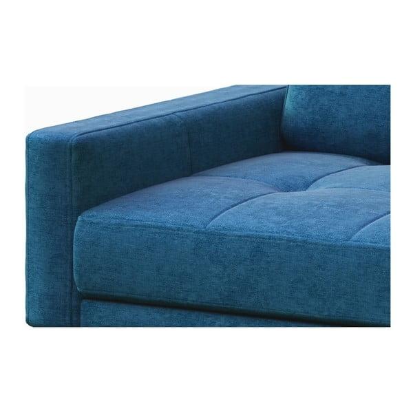 Modrá dvoumístná pohovka s dřevěnými nohami MESONICA Musso Tufted