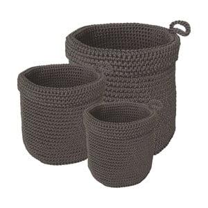 Sada 3 koupelnových košíků Grey Baskets