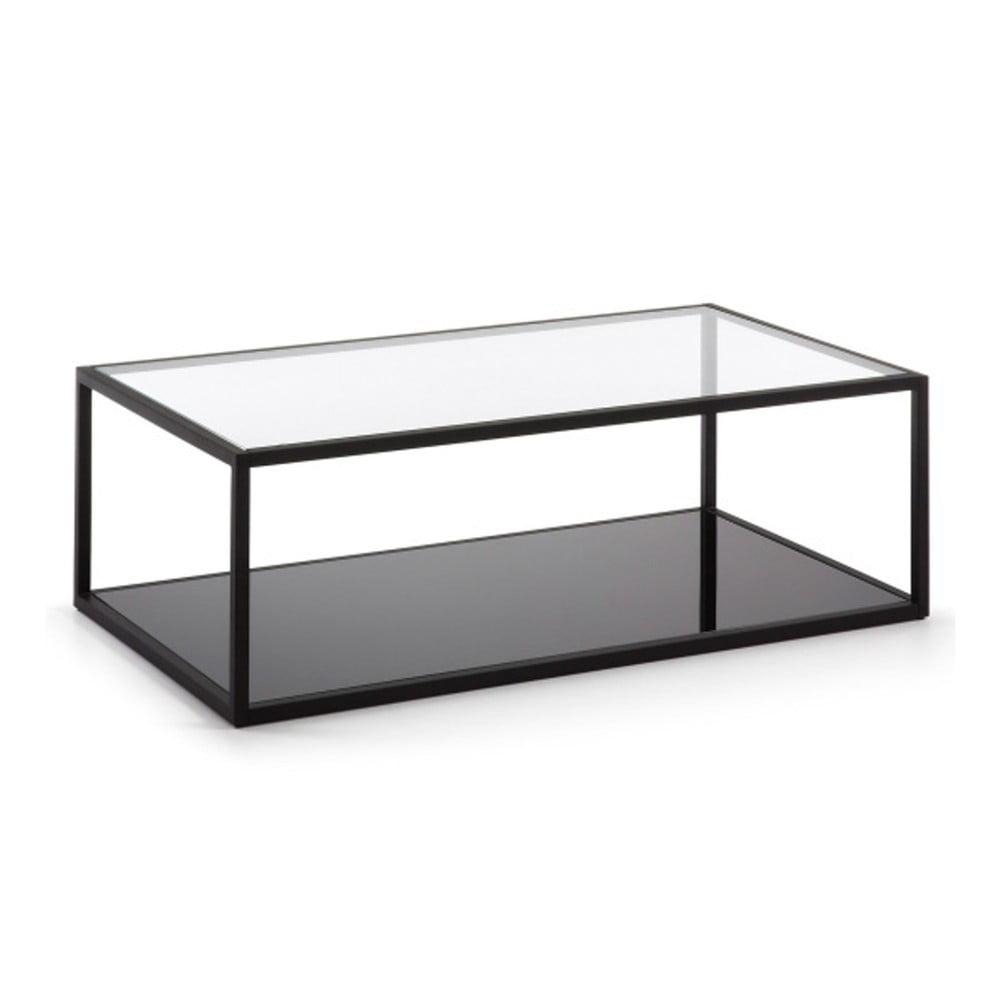 Černý konferenční stolek La Forma Green Hill, 110 x 60 cm