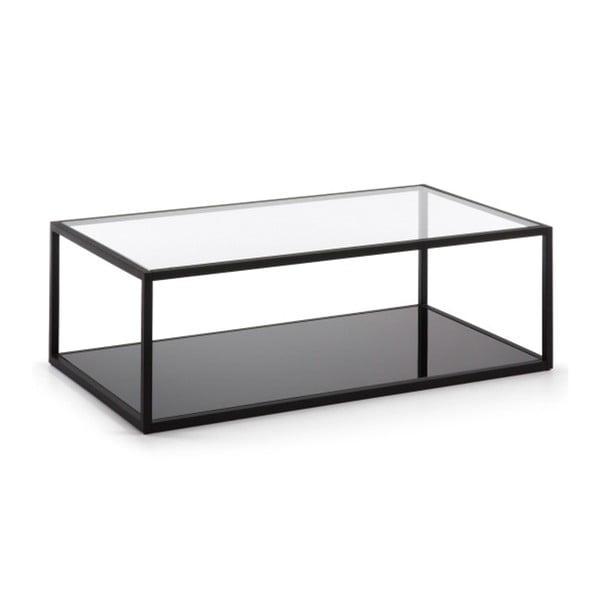 Green Hill fekete dohányzóasztal, 110 x 60 cm - La Forma