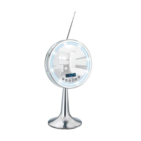 Zvětšovací stolní zrcadlo s LED světlem a rádiem Wenko Imperial