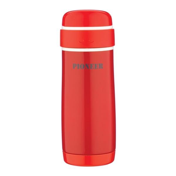 Červená cestovní lahev Pioneer Capsule, 320 ml