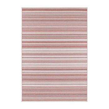 Covor adecvat și pentru exterior Elle Decor Secret Calais, 140 x 200 cm, roz închis