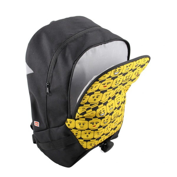 Rucsac pentru școală LEGO® Minifigures Heads, negru - galben