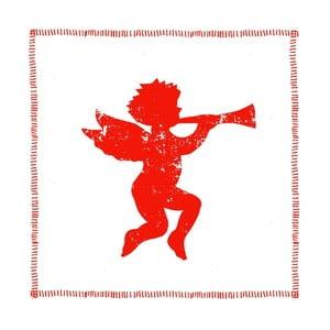 Balení 10 papírových ubrousků s vánočním motivem PPD Angel Fashion Red