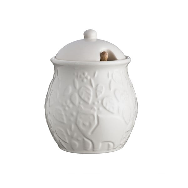 Bílá kameninová nádoba na med Mason Cash In the Forest, ⌀ 10 cm