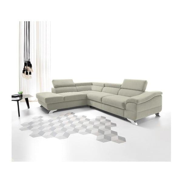 Béžová rozkládací rohová pohovka Windsor & Co Sofas Gamma, levý roh