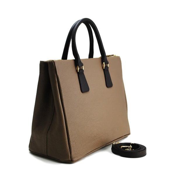 Kožená kabelka Pelle Taupe