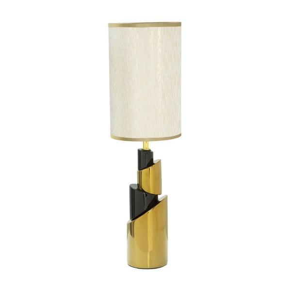 Bílá stolní lampa s konstrukcí ve zlaté barvě Mauro Ferretti Tower