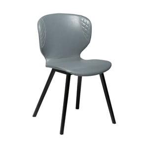 Šedá koženková jídelní židle DAN-FORM Denmark Hawk