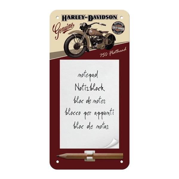 Sada plechová dóza a zápisník Harley