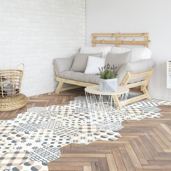 Set 10 autocolante pentru podea Ambiance Hexagons Gotzone, 20 x 18 cm