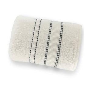 Bílá osuška ze 100% bavlny Marie Lou Remix, 150 x 90 cm
