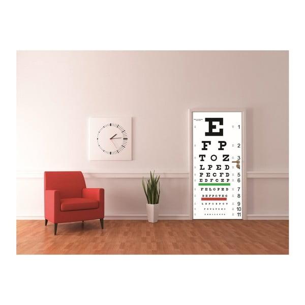 Tapeta na dveře Eyechart