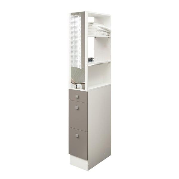 Šedohnědá koupelnová skříňka TemaHome Combi,šířka24,3cm