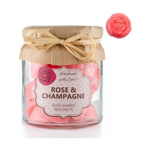 Sada 18 malých vonných svíček Rose and Champagne