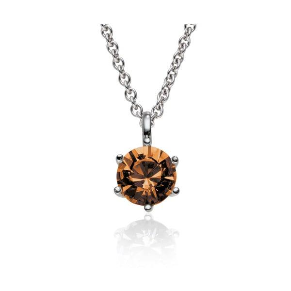Sada náušnic a náhrdelníku Stone Brown