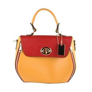 Žluto-červená kožená kabelka Matilde Costa Bali