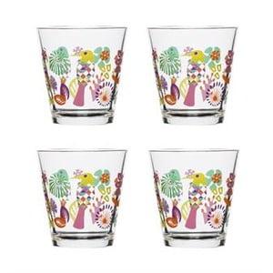 Sada 4 skleniček Fantasy 200 ml, fialová