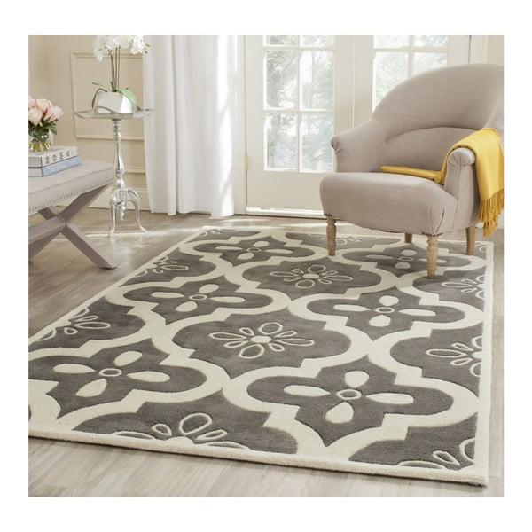 Vlněný koberec Safavieh Jessie, 152x243 cm, šedý
