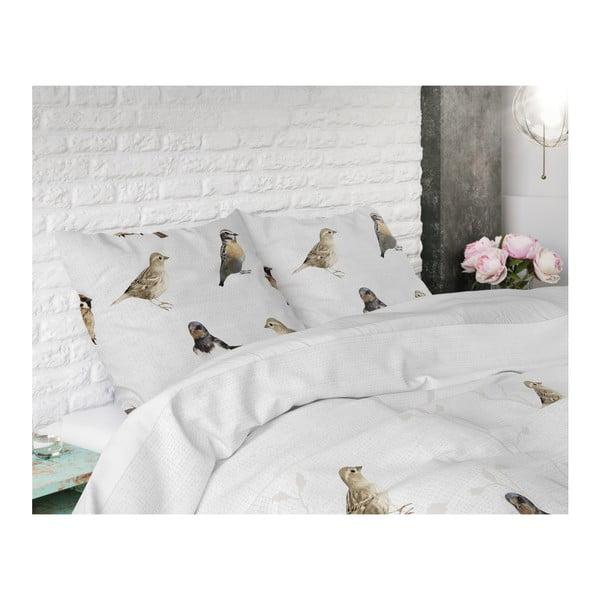 Bavlněné povlečení na dvoulůžko Sleeptime Birdy, 200 x 220 cm