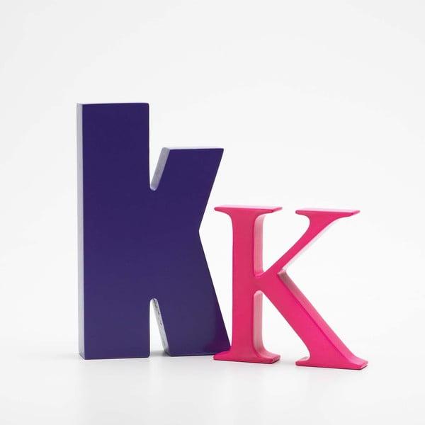 "Velké ""K"" 8x8 cm, fuchsiová"