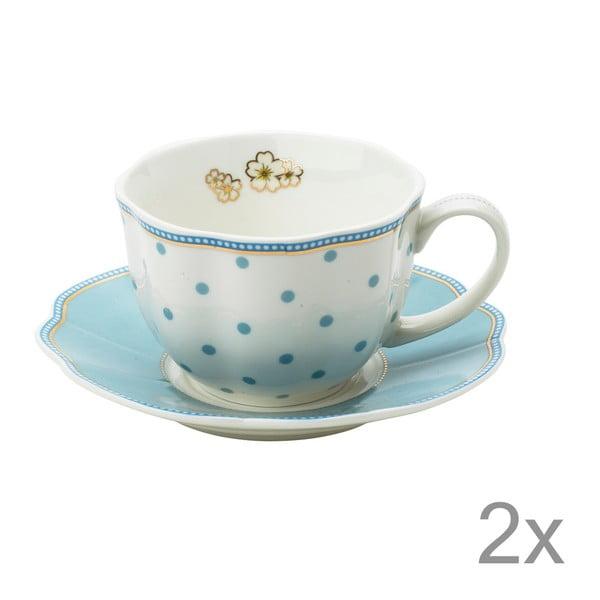 Porcelánový šálek s podšálkem Minitie od Lisbeth Dahl, 2 ks