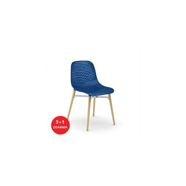 Set židlí Next 3+1 zdarma, modrá