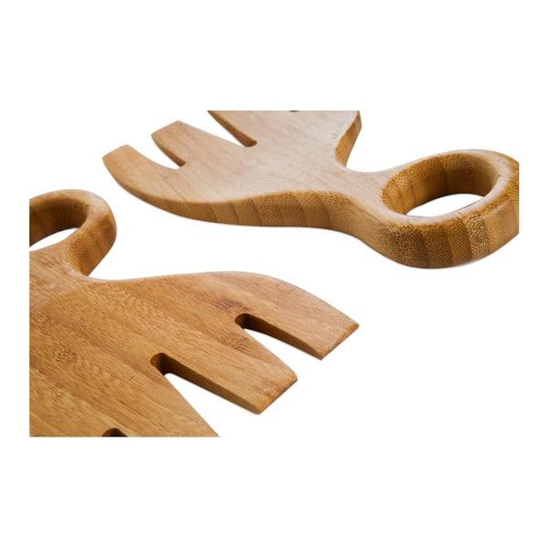 Sada 2 nástrojů na salát z bambusového dřeva Bambum Letta
