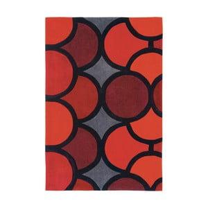 Červený  koberec  Asiatic Carpets Harlequin Waves, 150 x 90 cm