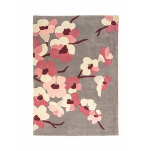 Koberec Flair Rugs Blossom Charcoal Pink, 120 x 170 cm