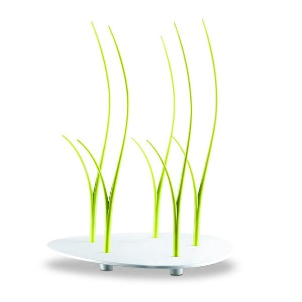 Zelená sada kulatého tácu a hůlek na jednohubky Entity