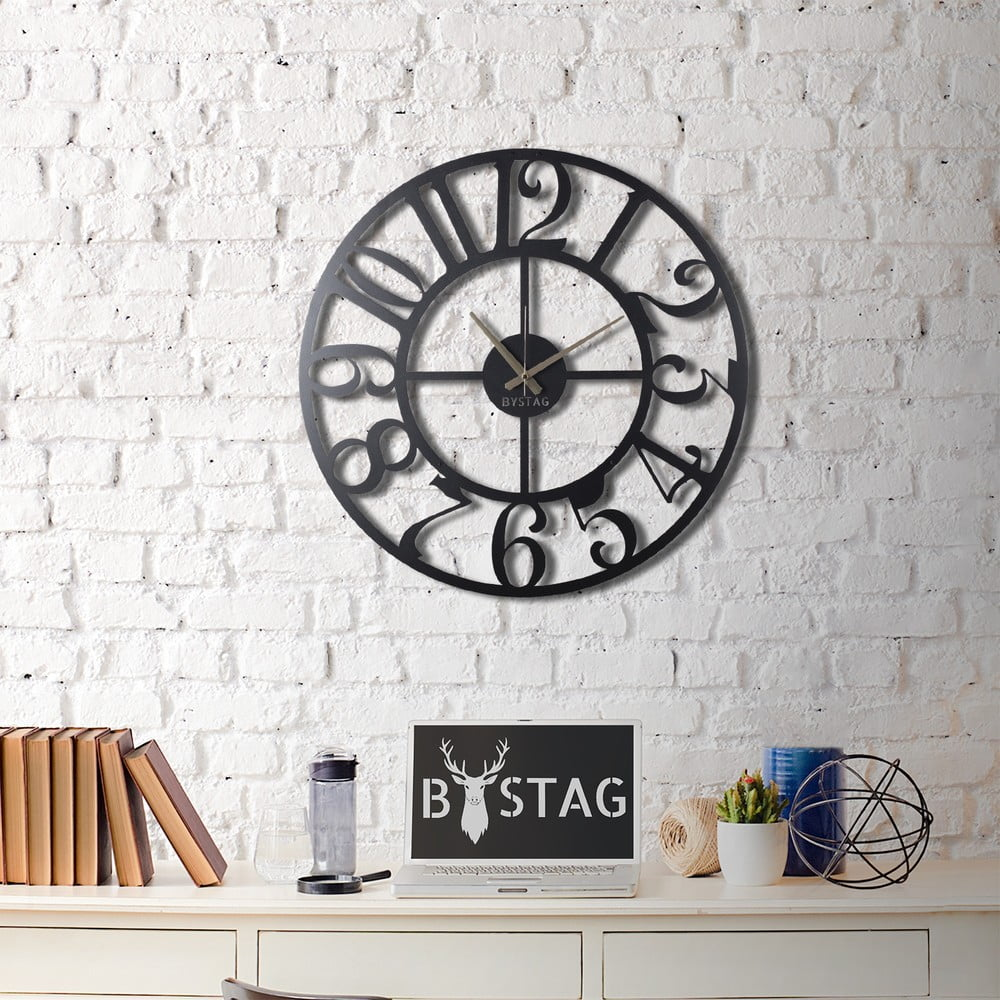 Nástěnné kovové hodiny Clasic, ø 70 cm