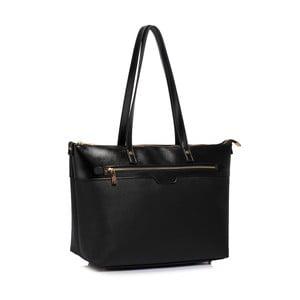 Černá kabelka z eko kůže L&S Bags Grab