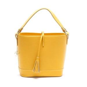Kožená kabelka Renata Corsi 1162, žlutá