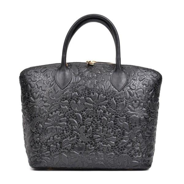Čierna kožená kabelka Anna Luchini Rusterio