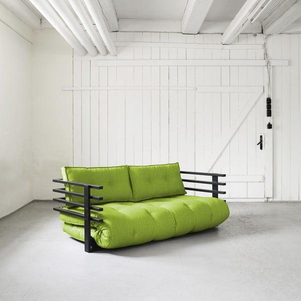 Canapea extensibilă Karup Funk Black/Lime