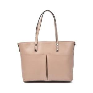 Pudrově růžová kožená kabelka Luisa Vannini Ambra