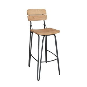 Žlutá barová židle VIDA Living Delta, výška 93 cm