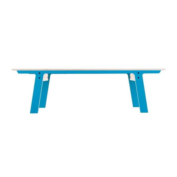 Modrá lavice na sezení rform Slim 01, délka 165 cm
