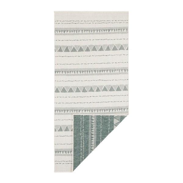 Covor pentru exterior Bougari Bahamas, 80 x 250 cm, verde-crem