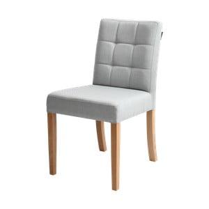 Šedá židle s přírodními nohami Custom Form Wilton