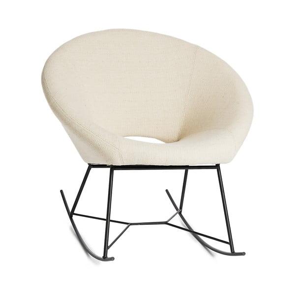 Biały fotel bujany Simla Simple