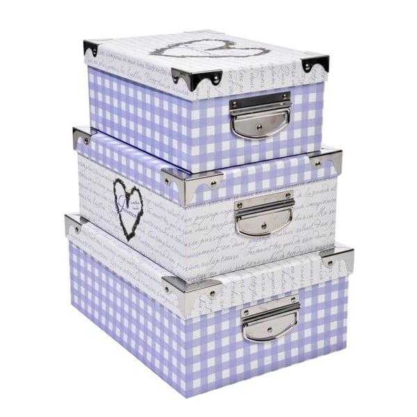Set boxů Lavender, 3 ks