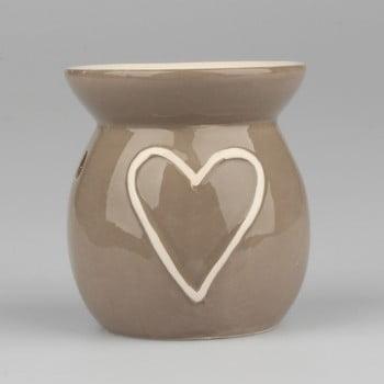Lampă aromatică din ceramică Dakls Heart, înălțime 10cm de la Dakls