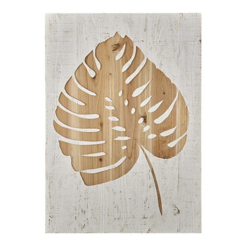Dřevěný obraz Graham & Brown Tropical Leaf, 50 x 70 cm