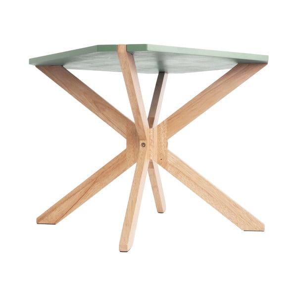 Mátově zelený konferenční stolek Leitmotiv Mister, 65x65cm