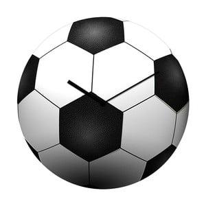 Skleněné hodiny Fotbal, 34 cm