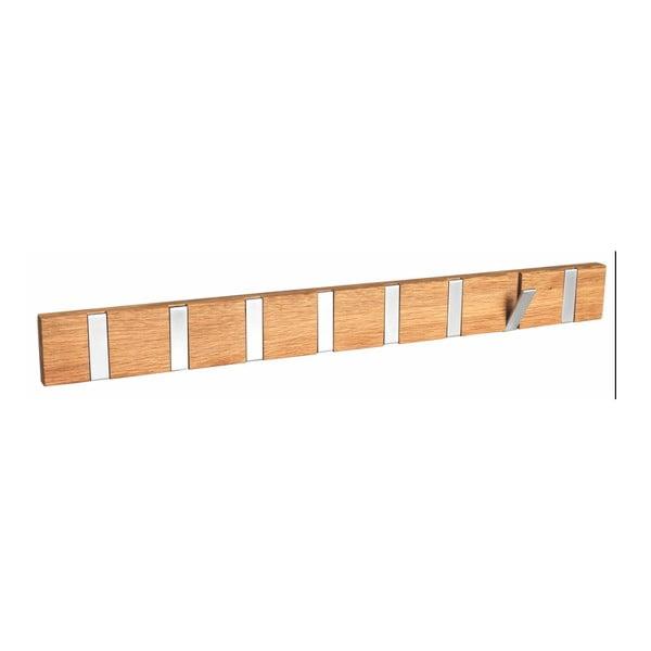 Cuier din lemn de stejar natural cu 8 cârlige Rowico Odin