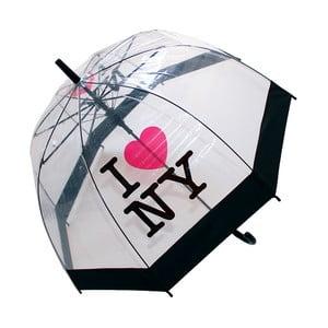 Umbrelă anti-vânt Ambiance Birdcage I Love NY, ⌀ 79 cm